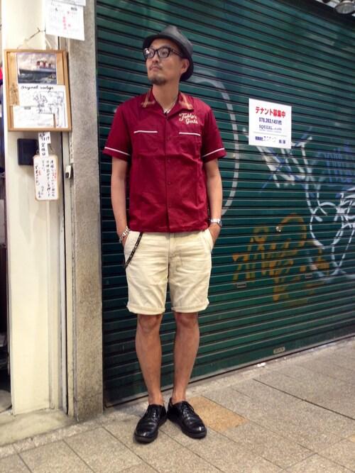 Schott Kobematsuuraさんのハット「Schott/ショット/SEWN MIX FEDORA/ミックス フェドラ ハット(NEW YORK HAT|ニューヨークハット)」を使ったコーディネート