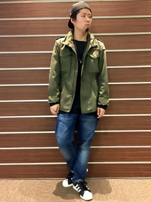 AVIREX 横浜HONDAさんのミリタリージャケット「avirex/アヴィレックス/メンズ/BASIC M-65 JACKET/ベーシック M-65 ジャケット(AVIREX アヴィレックス)」を使ったコーディネート