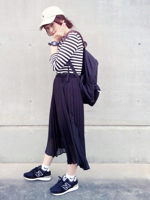 eikoさんのTシャツ/カットソー「Tasaraita / ILMA(marimekko|マリメッコ)」を使ったコーディネート