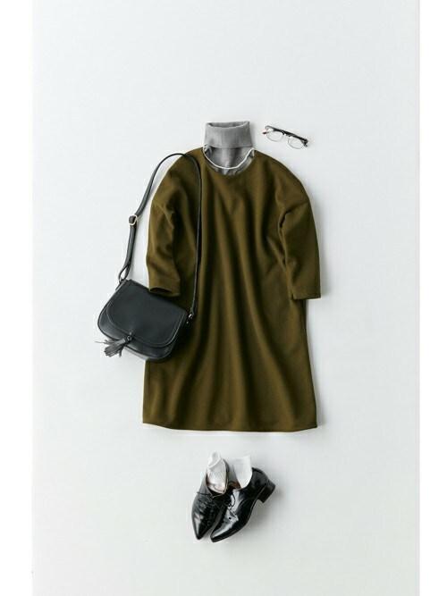 haco!haco!さんのTシャツ/カットソー「pilvee 取り外しプラパール付きタートルニットつけ衿(haco!|ハコ)」を使ったコーディネート