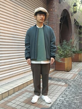ilk|ilk_officialさんの「GOETZE SEAN BLUE DENIM WOOL」を使ったコーディネート