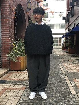 ilk|ilk_officialさんの「My Beautiful Landlet ORIGINAL FABRICS TOPS BLACK(my beautiful landlet)」を使ったコーディネート
