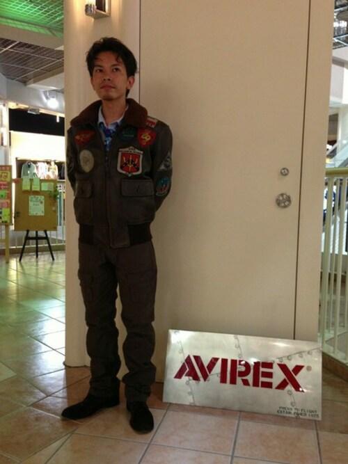 AVIREX 新潟Unoさんのミリタリージャケット「G-1 トップガン/G-1 TOP GUN/ AVIREX/アヴィレックス(AVIREX アヴィレックス)」を使ったコーディネート