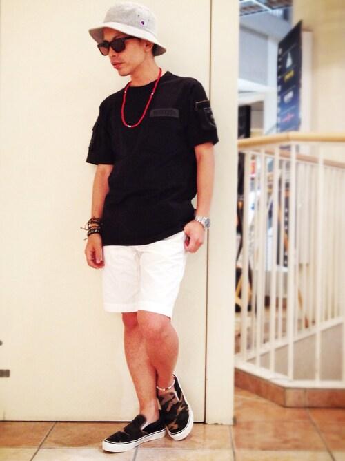 AVIREX 新潟UnoさんのTシャツ/カットソー「avirex/アヴィレックス/メンズ/FATIGUE T-SHIRT/ファティーグ Tシャツ(AVIREX|アヴィレックス)」を使ったコーディネート