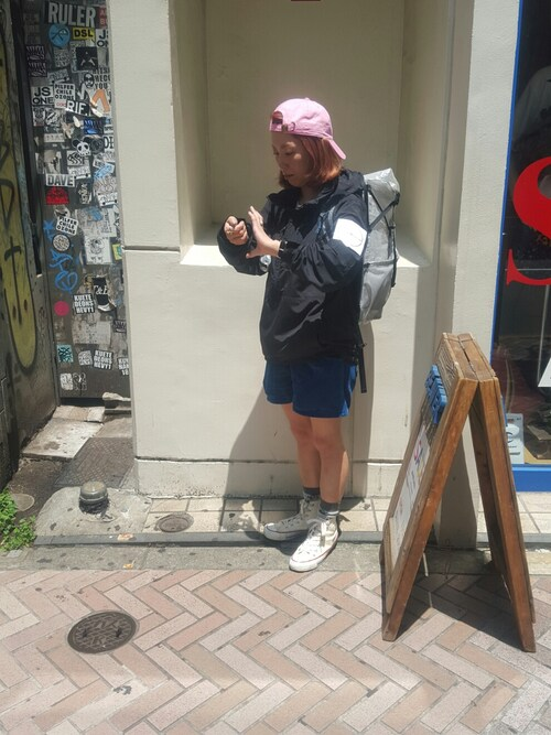 BEAVER渋谷店 Yamadaさんのバックパック/リュック「and wander(アンドワンダー)  CUBEN FIBER BACKPACK  (4065)(BEAVER|ビーバー)」を使ったコーディネート