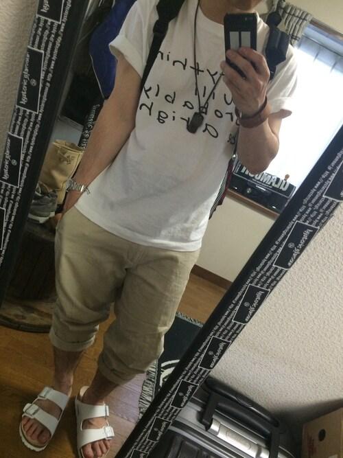 hi☆®️ock.69(o・・o)/~さんのTシャツ/カットソー「MADSAKI Tシャツ(WHITE)(JAM HOME MADE|ジャムホームメイド)」を使ったコーディネート