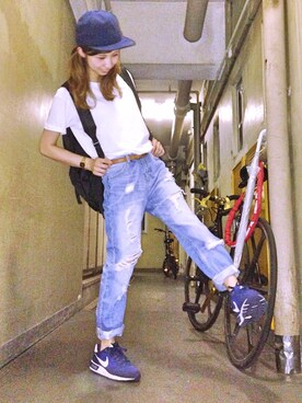 r y o **さんの「CANYON DENIM/SUEDE(SATURDAYS SURF NYC)」を使ったコーディネート