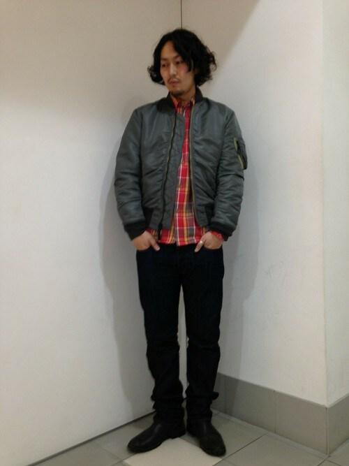 AVIREX  札幌Mr.nakamuraさんのシャツ/ブラウス「AVIREX (アヴィレックス) メンズ デイリー 長袖 コットン フランネル シャツ(AVIREX|アヴィレックス)」を使ったコーディネート