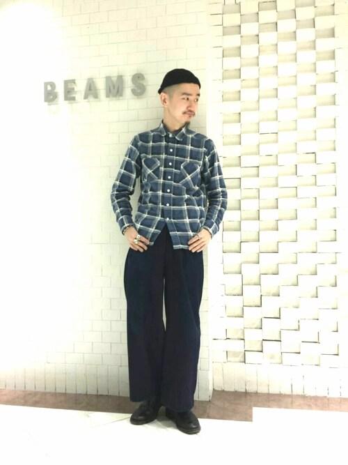 ビームス 新宿inata shinyaさんのキャップ「BETON CIRE / MIKI キャップ(BETON CIRE|べトンシレ)」を使ったコーディネート