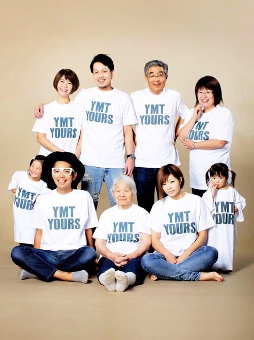 4世代 3世代 家族写真 オリジナルTシャツ
