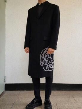 finest selection 77bce fb9d7 Dior homme(ディオールオム)のステンカラーコートを使った ...