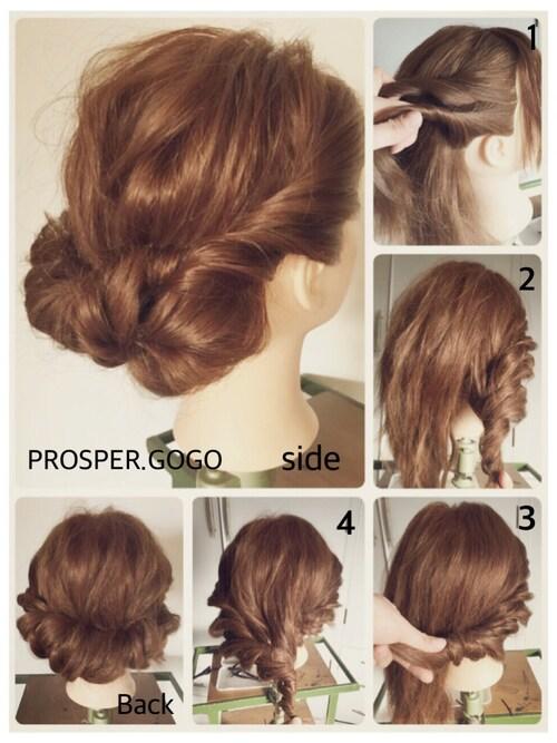 パーティー 髪型 セミロング 簡単 | 美しい髪