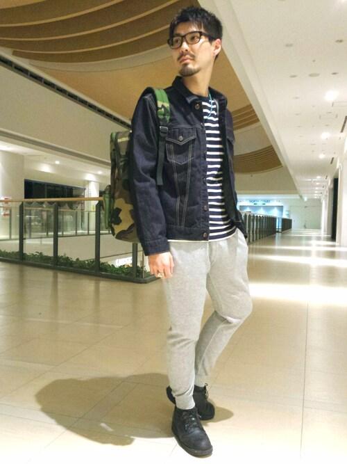 AVIREX ららぽーと横浜hirokiさんのパンツ「avirex/アヴィレックス/メンズ/OPAL FINISHING SWEAT PANTS(AVIREX|アヴィレックス)」を使ったコーディネート