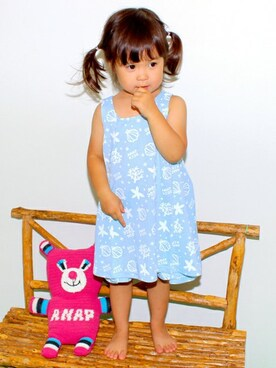 6d689ccba3ef38 ANAP Online Official ANAP KIDS Officialさんの「SEA総柄AラインOP