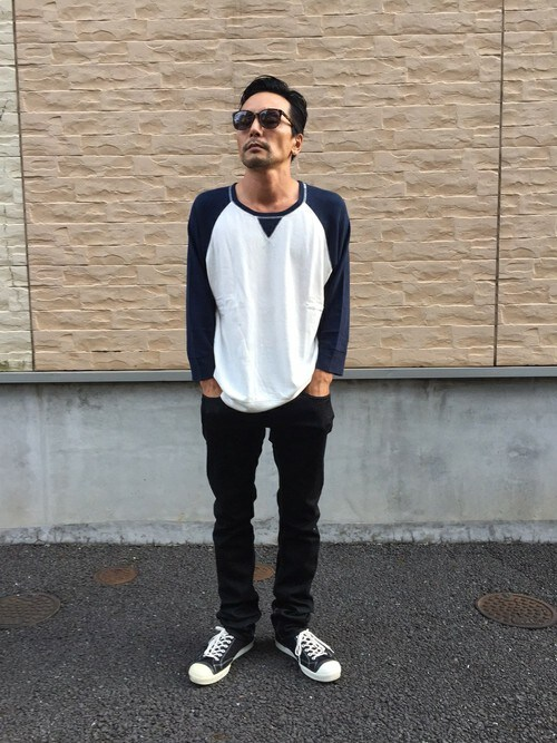 sableclutchさんの「RAGLAN 3/4 SLEEVE TEE(SABLE CLUTCH)」を使ったコーディネート