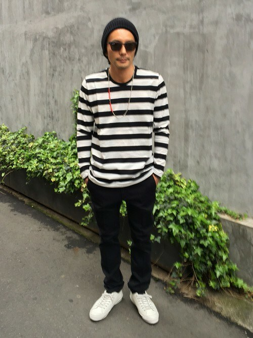 sableclutchさんの「BORDER LONG SLEEVE TEE(SABLE CLUTCH)」を使ったコーディネート