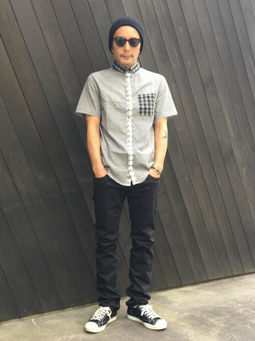 sableclutchさんの「LITTLE B.D CRAZY CHECK SHIRT-S/S(SABLE CLUTCH)」を使ったコーディネート