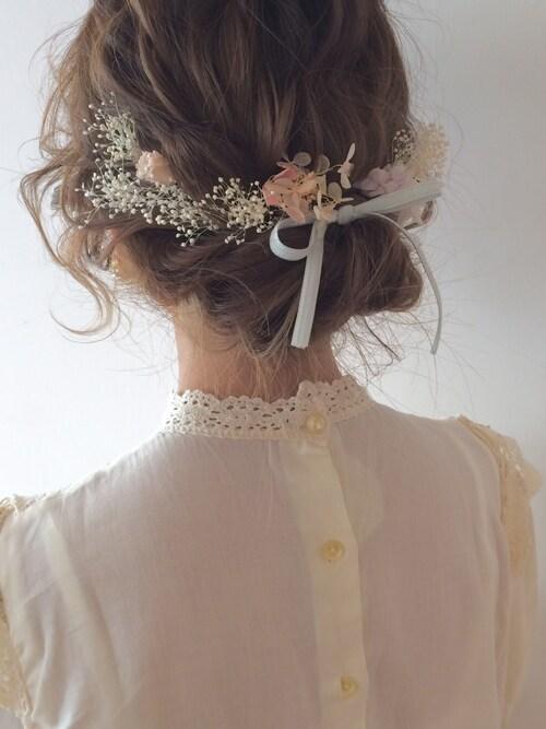 結婚式 髪型セルフアレンジ