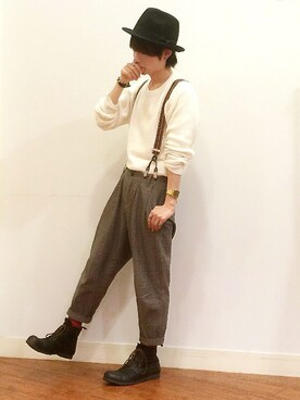 chanさんの「【セール店頭人気アイテム】【Online Shop 1st Anv.】SPACE CRAFT×AER ANTIQUE BOOTS(Adam et Rope')」を使ったコーディネート