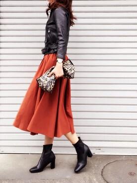 miimaさんの「BEAUTIFUL PEOPLE ライダースジャケット【ESTNATION別注】(beautiful people|ビューティフルピープル)」を使ったコーディネート
