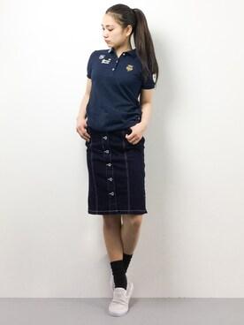 ZOZOTOWN|東舞華さんのポロシャツ「(BEAMS GOLF|ビームスゴルフ)」を使ったコーディネート