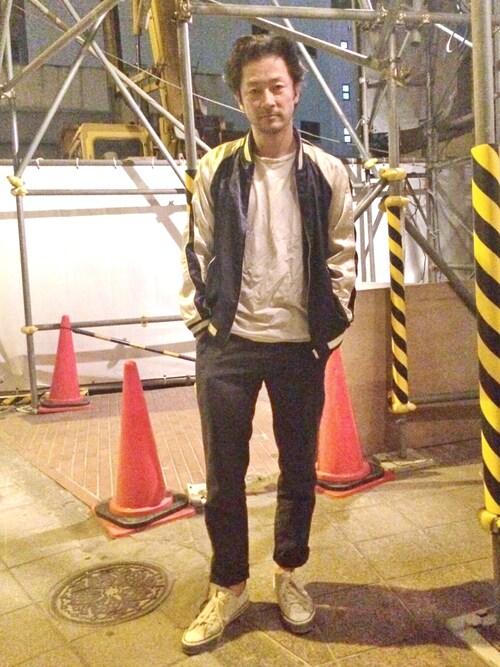 TADANOBUASANO さんのスカジャン「スカジャンブルゾン(unrelaxing アンリラクシング)」を使ったコーディネート