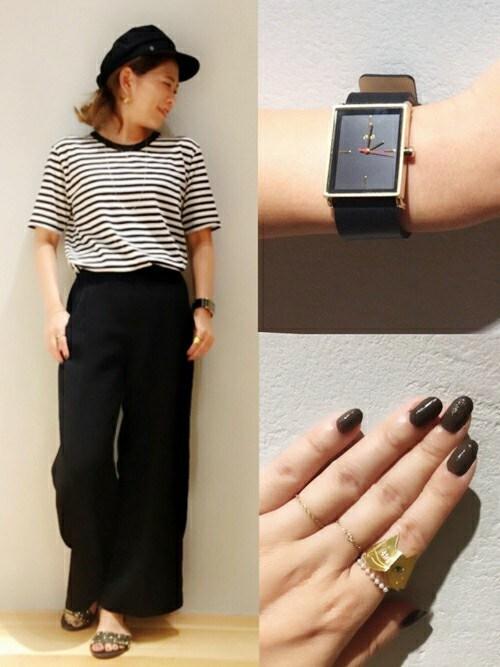 ete ルクア大阪店ENchan.さんの腕時計「チェンジアップウォッチ ベルト(ete|エテ)」を使ったコーディネート