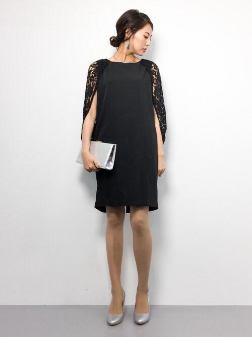 ZOZOTOWNm.yさんのドレス「レース ドレープ ワンピース ドレス 結婚式 フォーマル パーティードレス(DRESS LAB|ドレスラボ)」を使ったコーディネート