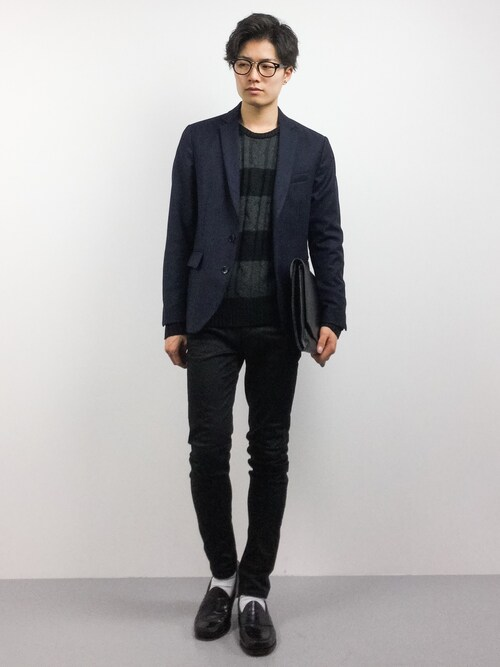 ZOZOTOWN武井一輝さんのニット/セーター「ケーブル編みクルーネックニットセーター(ARCADE|アーケード)」を使ったコーディネート