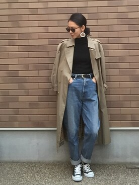 emaemiさんの「KONA vintage blue DENIM(BLACK BY MOUSSY)」を使ったコーディネート