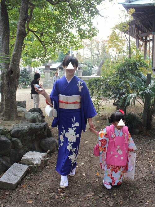 青紫 訪問着 略礼装 お詣り