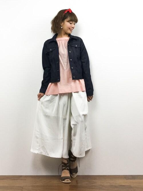 ZOZOTOWN内山陽菜さんのデニムジャケット「Gジャン(Rouge vif|ルージュヴィフ)」を使ったコーディネート