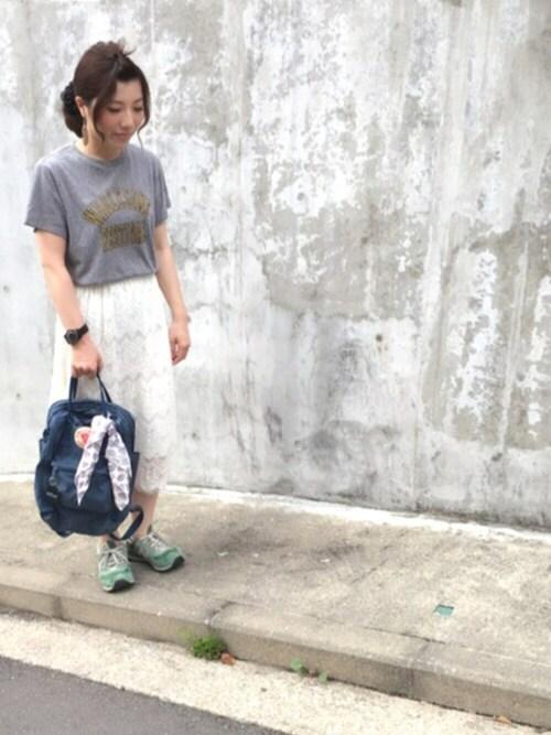 アサミ☆のTシャツ/カットソー「TCRアソートプリントT 720169」を使ったコーディネート