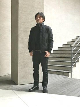 FRED PERRY 本社|Cozyさんの「Padded Harrington Jacket(FRED PERRY)」を使ったコーディネート