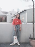 Serena Chen is wearing Gosha Rubchinskiy