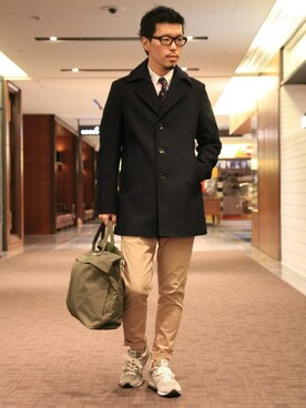 THE DUFFER OF ST.GEORGE|YOSHIさんの「COTTON STRETCH TAPERED SKINNY TROUSERS