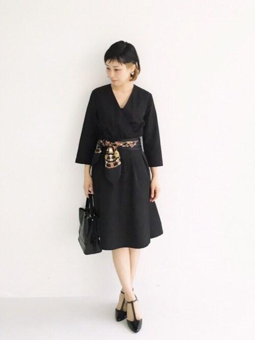 結婚式服装コーデ黒