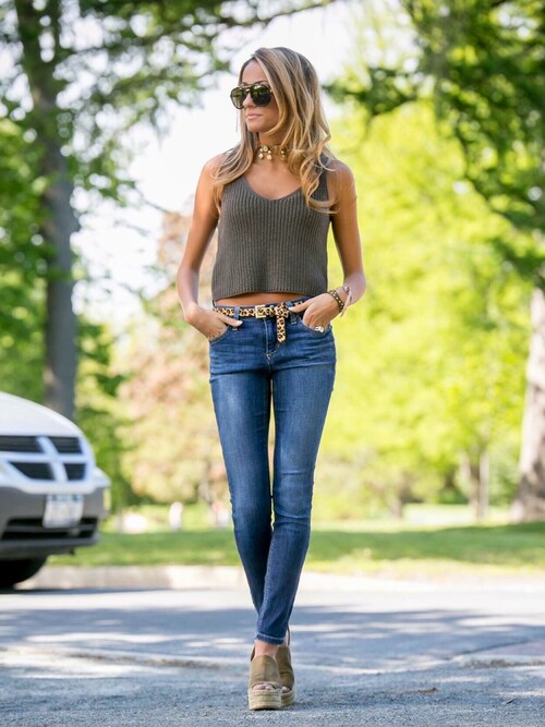 "LaurenRecchia is wearing Joe's Jeans ""Joe's 'Honey' Skinny Jeans (Sophia)"""