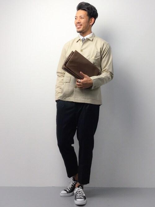 ZOZOTOWNryoma nagaokaさんのブルゾン「Schott/ショット/FATIGUE COVERALL JACKET/ファティーグ カバーオール ジャケット(schott|ショット)」を使ったコーディネート
