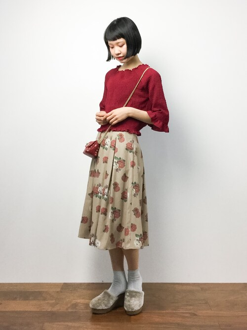ZOZOTOWNhinaさんのTシャツ/カットソー「長袖シャーリングプルオーバー(Kastane|カスタネ)」を使ったコーディネート