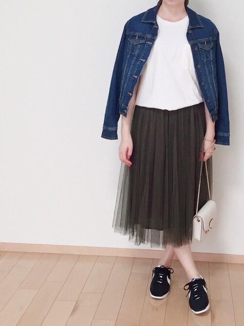 やぎさんのスカート「ふんわりチュールスカート(coca|コカ)」を使ったコーディネート