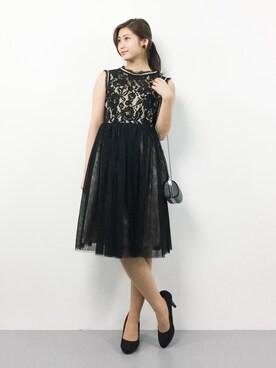 ad1ca2c189acc  結婚式・二次会・パーティにオススメ WEB限定商品 ボリュームチュールレースドレスを使ったコーディネート (1)