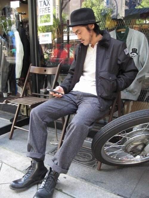 Schott Westishizawaさんのパンツ「Schott/ショット/JAZZNEP CLASSIC WORK PANTS/ジャズネップ クラシック ワーク パンツ(schott|ショット)」を使ったコーディネート