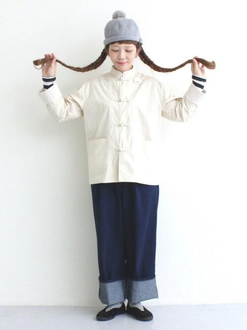 marumarukaさんの「40ダンプ カンフージャケット(I AM I BOYGAL)」を使ったコーディネート