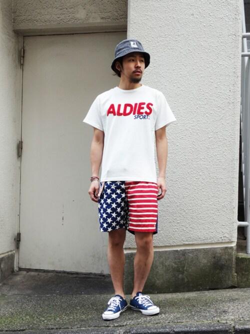 ALDIES SHIBUYAはらださんのTシャツ/カットソー「ALDIES Sports T / アールディーズスポーツT(ALDIES|アールディーズ)」を使ったコーディネート