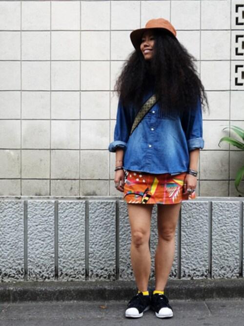ALDIES SHIBUYAはらださんのスカート「Be Nice Skirt / ビーナイススカート(ALDIES|アールディーズ)」を使ったコーディネート
