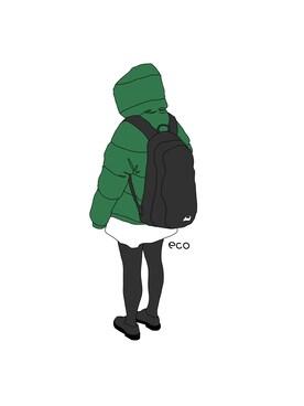 ダウンジャケットコートを使ったイラストのコーディネート一覧