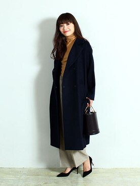 Demi-Luxe BEAMS|Demi-Luxe BEAMSさんの「Demi-Luxe BEAMS / ウールビーバーロングコート(Demi-Luxe BEAMS)」を使ったコーディネート