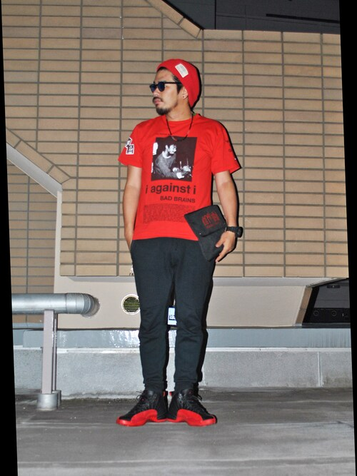 "にいる is wearing AIR JORDAN ""AIR JORDAN 12 FLU GAME"""