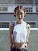 "ipyi is wearing TOPSHOP ""BASIC CROP TANK TOP"""